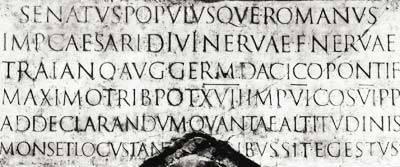 Надпись на колонне Траяна